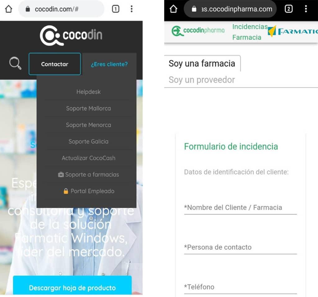 incidencias cocodinpharma